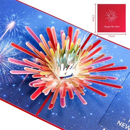 Creative 3D New Year Greeting Card Holiday Wishes Chinese New Year Handmade (Best New Year Card Wishes)