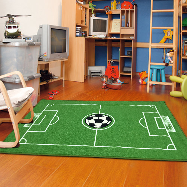 "Soccer Ground Kids Area Rug 3'3""x5'"