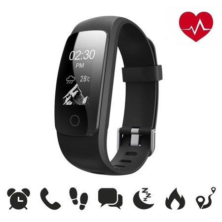 Fitness Tracker Drillpro Heart Rate Activity Tracker 4.0 Smart Wristband Bracelet,ID107Plus Sport Smartwatch,Health Pedometer Sleep/Step/Heart Rate (Best Wrist Pedometer Uk)