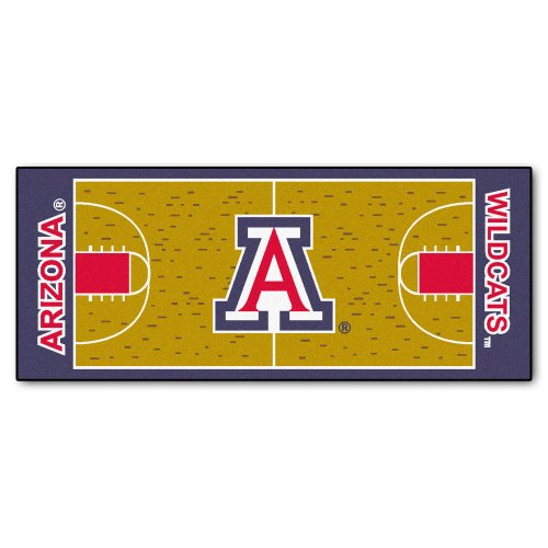 FANMATS NCAA University of Arizona Wildcats Nylon Face Basketball Court Runner