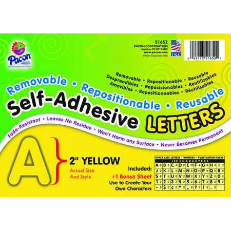 Self Adhesive Letter 2In Yellow - image 1 de 1