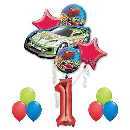 Hot Wheels 1st Birthday Party Supplies and Balloon - Hot Wheels Birthday Decorations