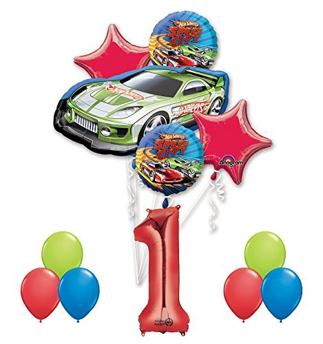 Hot Wheels 1st Birthday Party Supplies and Balloon Decorations