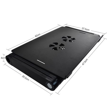 ISTANT Laptop stand computer Table with 2 Cooling Fans and Removable Mouse Pad - image 3 de 5