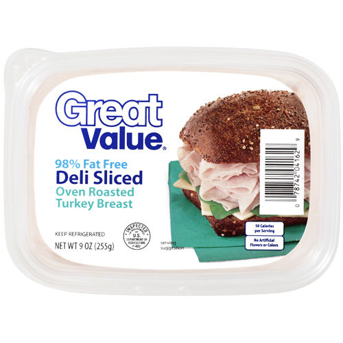 Great Value Deli Sliced Oven Roasted Turkey Breast, 9 oz