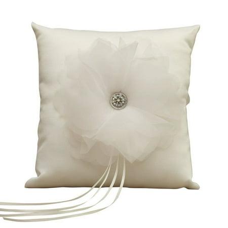 Jamie Lynn Wedding Accessories Ring Pillow, Chloe, Ivory