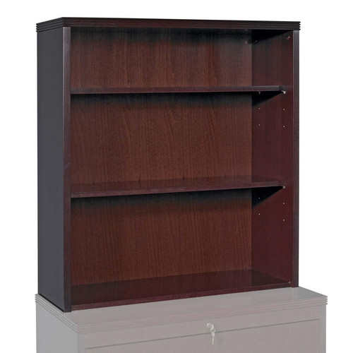 Lorell Fluted Edge Furniture 39'' Standard Bookcase