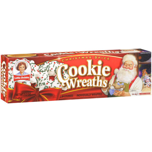 Little Debbie Snacks Wreath Cookies, 8ct