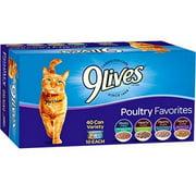 9 Lives Poultry Favorites Wet Cat Food Variety Pack, 5.5 oz