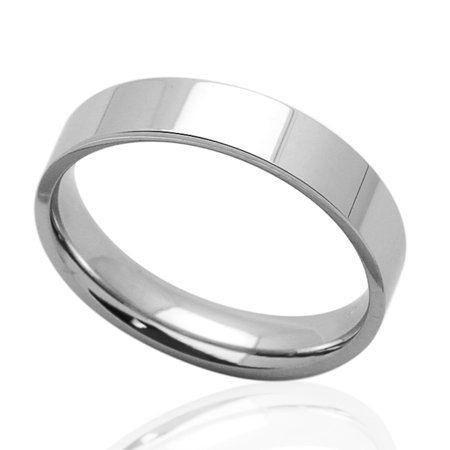 - Men Women 6MM Comfort Fit Stainless Steel Wedding Band Classic Flat Ring (Size 5 to 12)