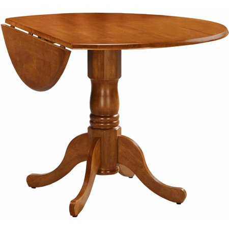 International concepts 42 round dual drop leaf pedestal for Round drop leaf dining table