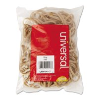 (2 Pack) Universal Rubber Bands, Size 117, 7 x 1/8, 50 Bands/1/4lb Pack -UNV04117