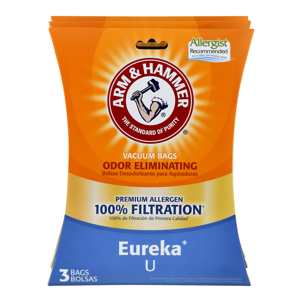Arm & Hammer 100% Filtration Vacuum Bags for Eureka U - 9 CT