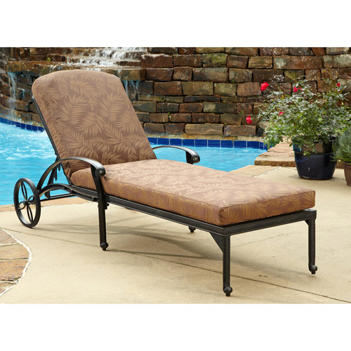 Home Styles Floral Blossom Outdoor Chaise Lounge Chair with Cushion Charcoal  sc 1 st  Walmart : aluminum chaise lounge - Sectionals, Sofas & Couches