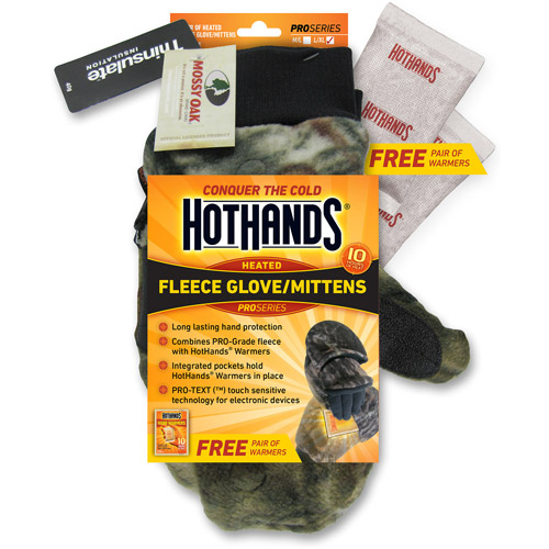 HotHands Fleece Glove/Mittens, Mossy Oak Camo