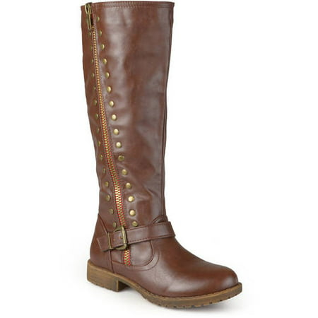 Women's Zipper Studded Riding Boots