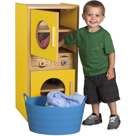 colorful essentials washer and dryer play set yellow. Black Bedroom Furniture Sets. Home Design Ideas