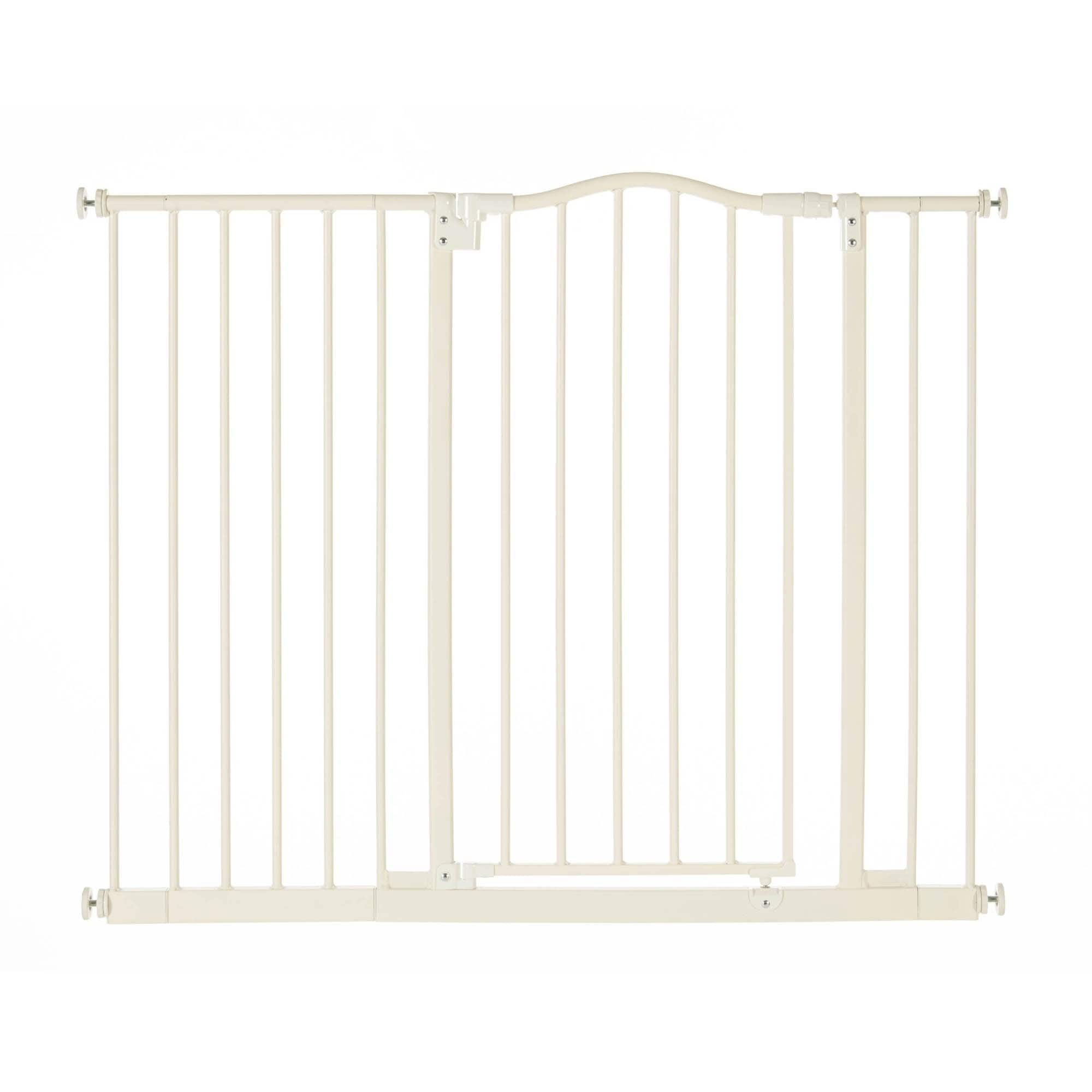 North States 4978 Supergate Portico Arch Tall & Wide Baby Safety Gate, Linen