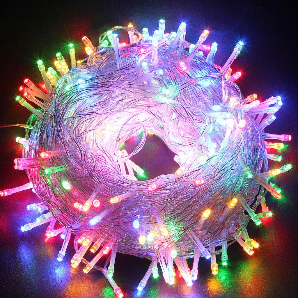 Pink christmas lights in bedroom - Excelvan Safe 24v 250 Leds 50m 164 Feet String Fairy Lights Lighting 8 Modes For Christmas Tree Party Wedding Garden Walmart Com