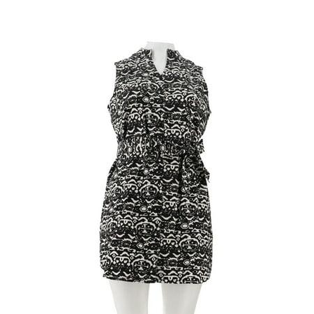 Liz Claiborne NY Printed Button Down Dress Tie A254905