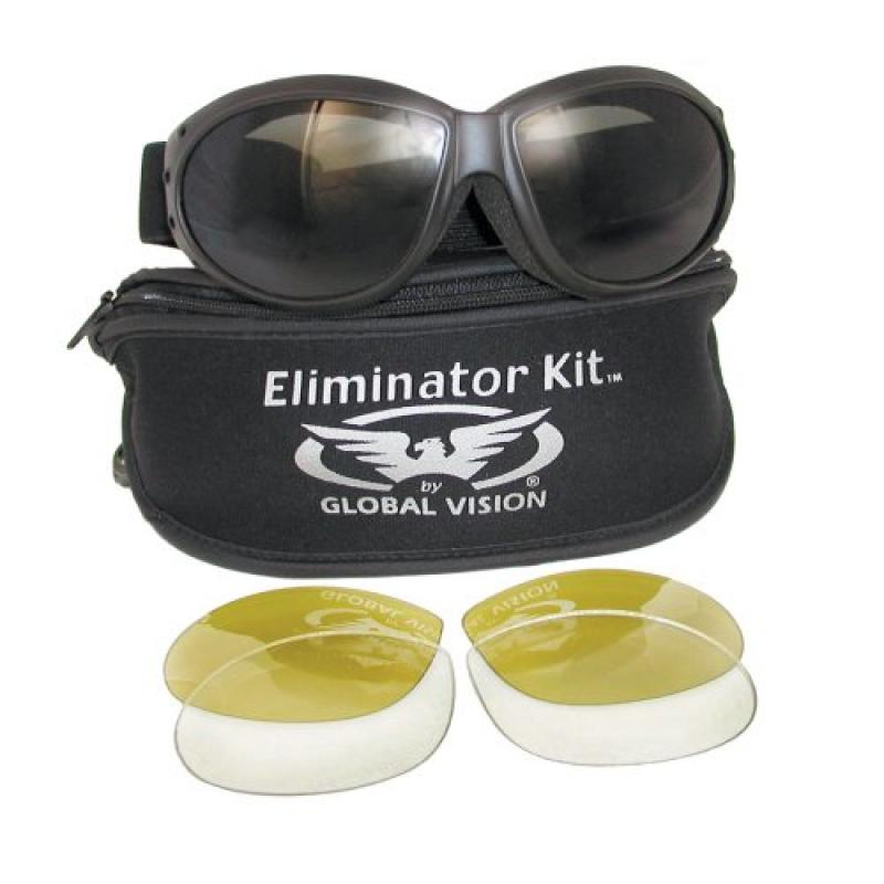 Eliminator Global Vision Kit #2 (3 Lenses Smoke, Clear & Yellow Tint) by KITS