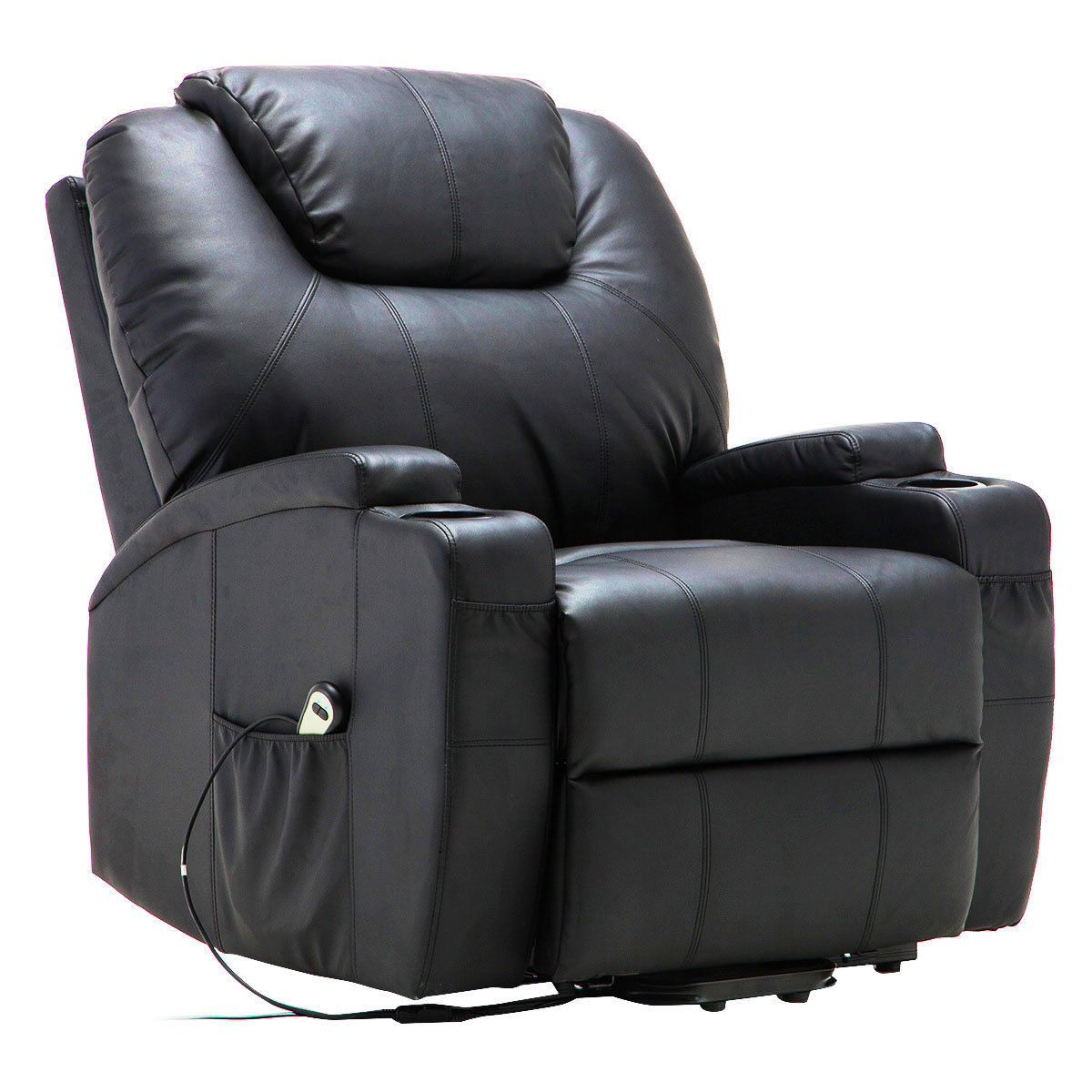 Costway Electric Lift Power Recliner Chair Heated Massage Sofa Lounge w/ Remote Control
