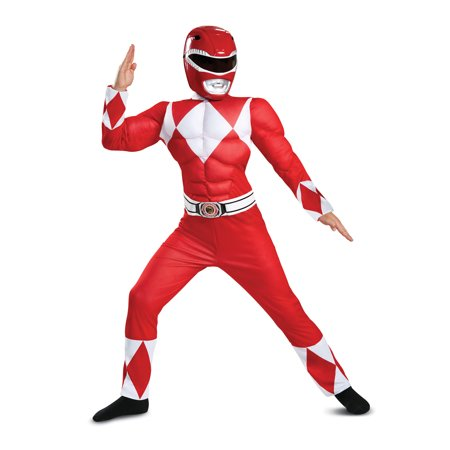 Power Rangers Red Ranger Muscle Classic Child Halloween - Sonic Halloween Costume Party City