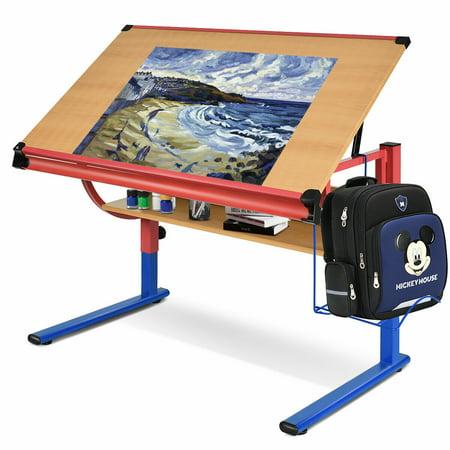Costway Adjustable Drafting Table Workstation Drawing Desk Art & Craft Hobby Studio