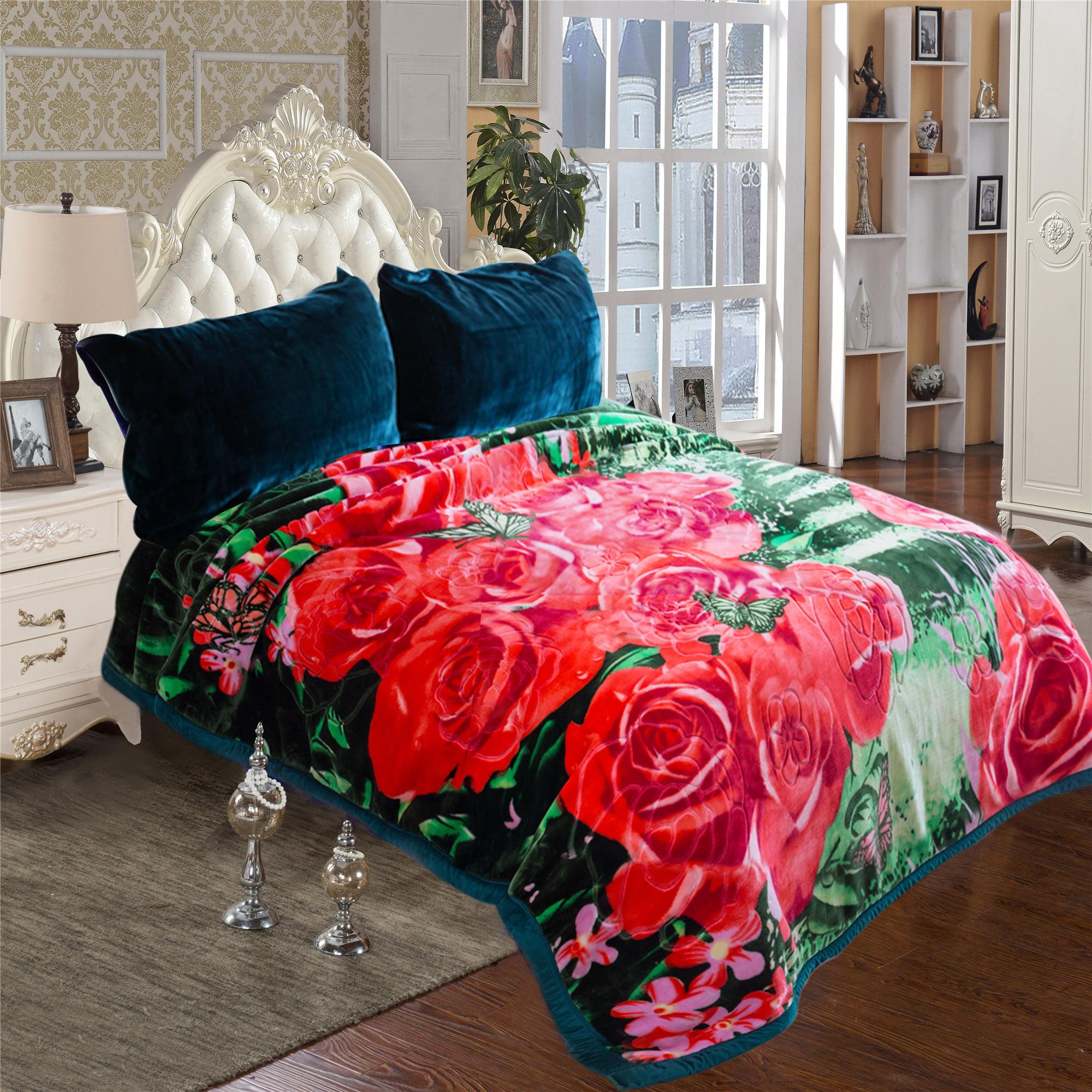 Queen Size blanket Soft Plush Heavy Crystal Velvet Mink Fleece Blanket For Winter 2 Ply... by JML