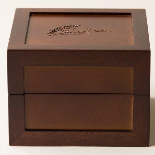 Charlton Home Sparrow Motif Medium Jewelry Box