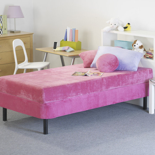 Memory Foam Kidz 8'' Kid's Memory Foam Mattress with Water Proof Cover in Pink