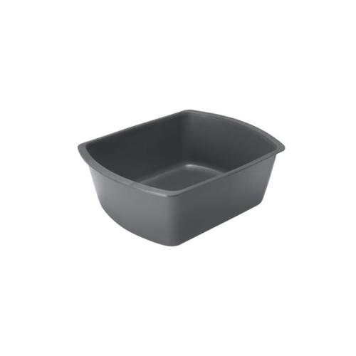 Medline Rectangular Plastic Washbasins,Graphite,6.000 QT DYND80347