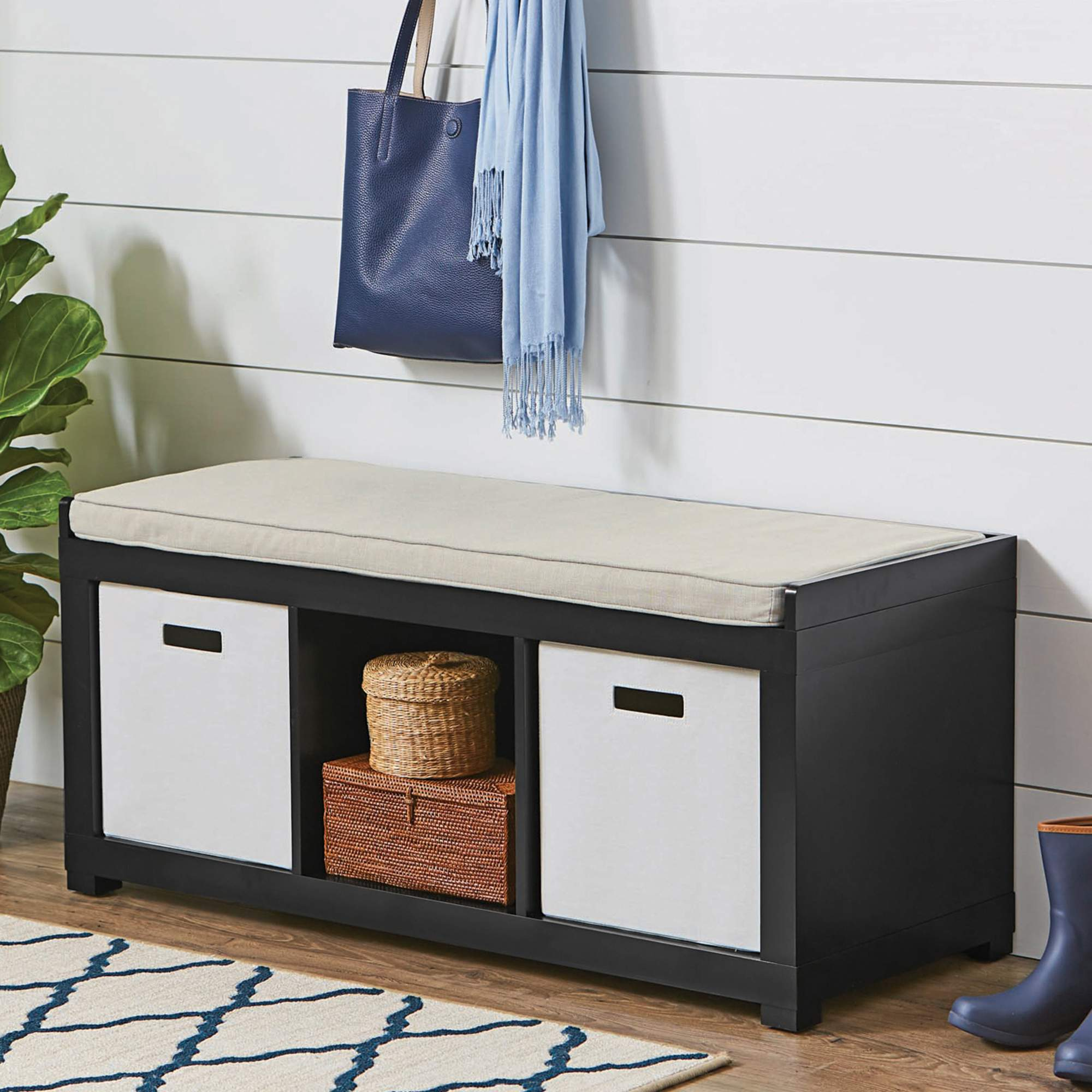 Better homes and gardens 4 cube organizer bench