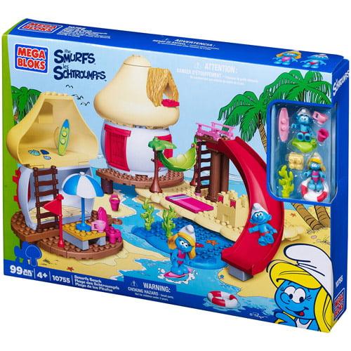 Mega Bloks Smurfs Smurf's Beach Play Set by Mega Bloks