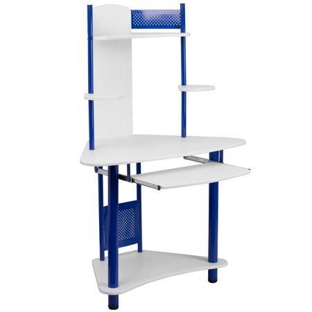 Kids Furniture Corner Desk - Flash Furniture Student Corner Computer Desk with Hutch, Multiple Colors