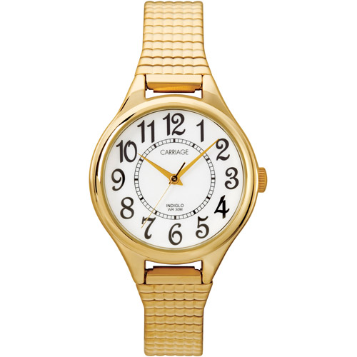 Carriage by Timex Women's Carolyn Watch, Gold-Tone Stainless Steel Expansion Band