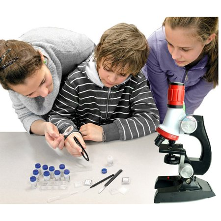 Children Microscope Neutral Plastic 1200X Science Experiment Teaching Aid - image 3 of 6