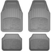Armor All 4-Piece Grey Carpet/Rubber Interior Floor Mat