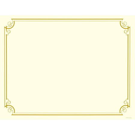 Golden Scroll Frame Cert, 12 - Walmart.com