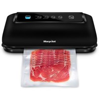 Morpilot Vacuum Sealer with Built-in Roll Storage & Cutter, Automatic Food Saver Vacuum Sealer Machine, Starter Bags, Hose, Dry & Moist Food Modes, LED Indicator Lights, FDA Compliant