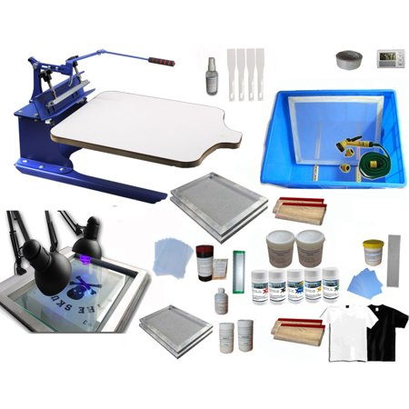 Techtongda Single Color Screen Printing Kit Bundle T Shirt Hobby Diy Silk Screen Printing Press Exposure Unit 006979
