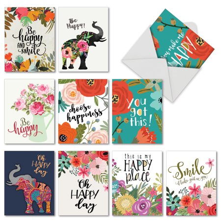 M6631OCB OPTIMISMS' 10 Assorted All Occasions Note Cards with Envelopes by The Best Card Company