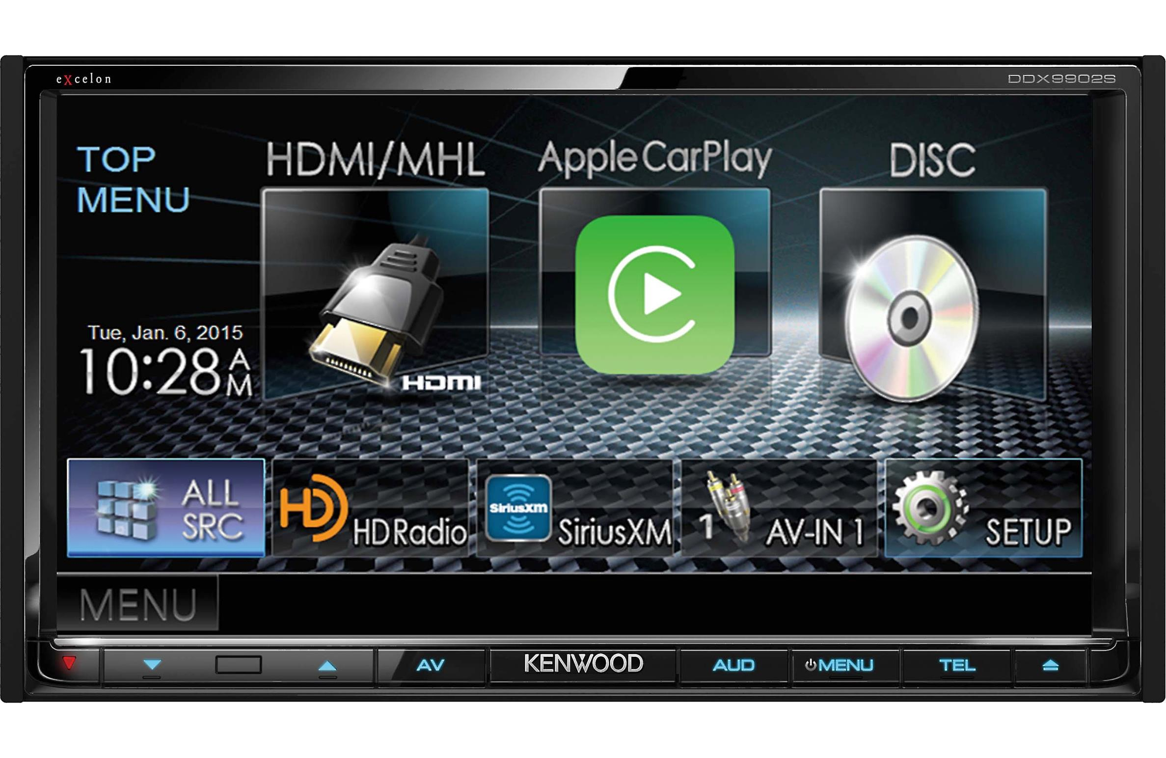 Kenwood DDX9902S 2-DIN In-Dash DVD Bluetooth Stereo Receiver Built-in HD Radio by Kenwood