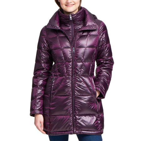 Andrew Marc Ladies Packable Hooded Premium Down Jacket