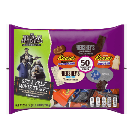 Hershey's Halloween Spooky Sweets Snack Size Assortment Variety Candy Pack, 25.8 Oz., 50