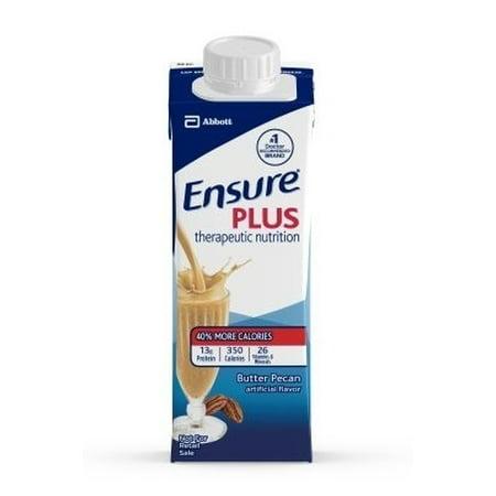 Ensure Plus Butter Pecan, 8 Ounce Recloseable Carton, Abbott 64909 - Case of 24