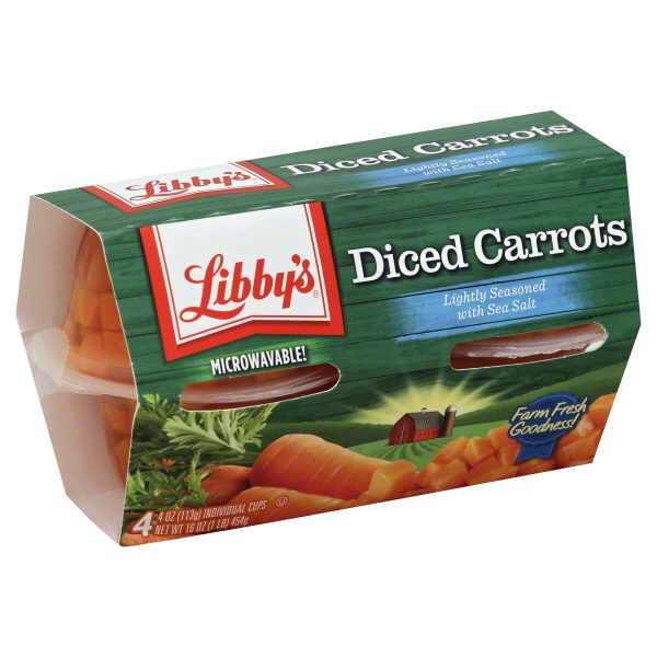 Libby's Diced Carrots, 4 Oz, 4 Count Box