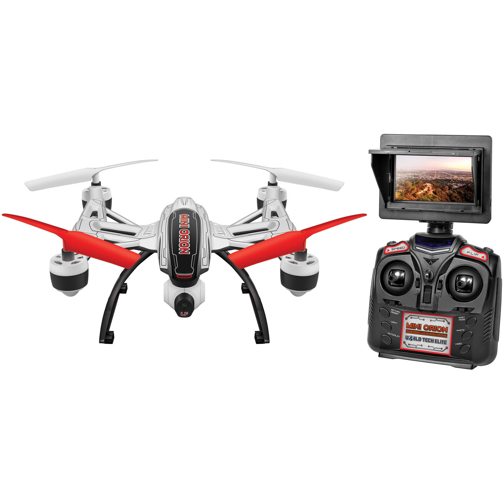 Mini Orion Camera Drone Live Feed LCD Screen 2.4GHz 4.5-Channel R C Quadcopter by World Tech Toys