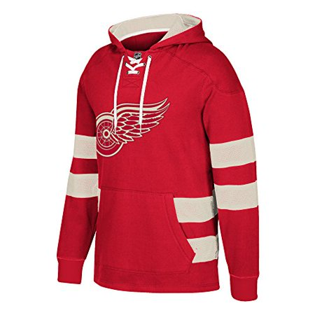 info for 77274 6bb75 Detroit Red Wings CCM Pullover Jersey Hoody (Small,Red ...