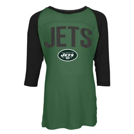 New York Jets NY Raglan Shirt Youth Girls Graphic Tee